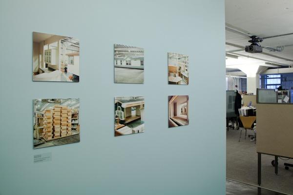 exhibition view, Manufacturing Home, Carmichael Lynch, Minneapolis, artwork © Amy Eckert www.amyeckertphoto.com