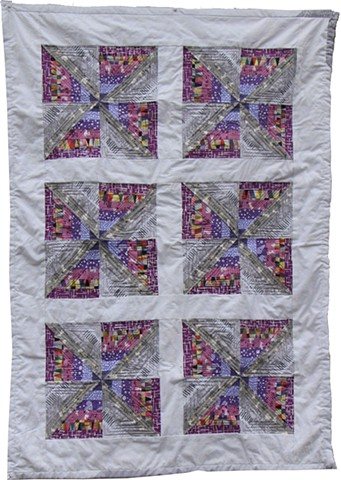 """Pinwheels in Motion"" baby quilt for C"