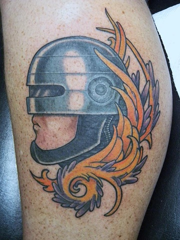 Robocop, Robocop tattoo, Kissimmee tattoo shop, Kissimmee, sci fi tattoo, movie tattoo, tattooing, Kissimmee tattoo