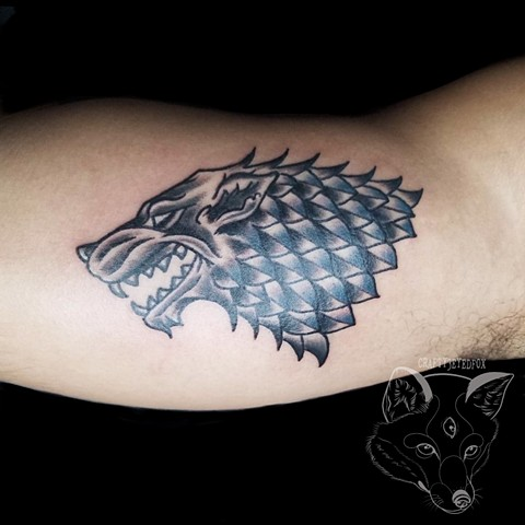 Stark sigil  Tattoo from Game of Thrones