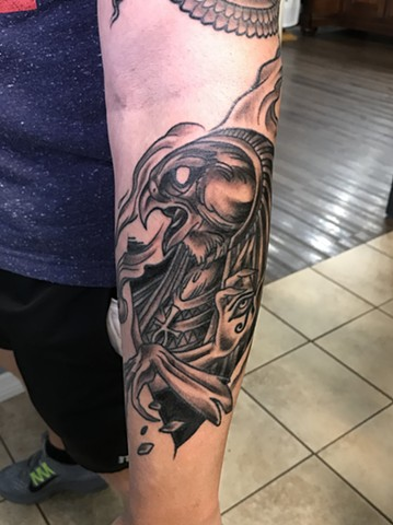 Horus, Horus tattoo, black and grey tattoo, Kissimmee tattoo shop, tattoo shop, Kissimmee, Egyptian tattoo