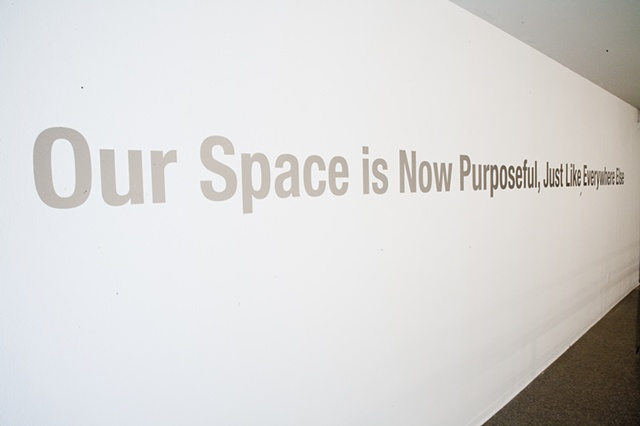 Upstairs Text Installation for PerpiTube, Nichols Gallery, Pitzer College