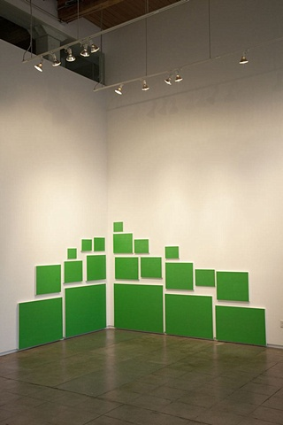 Green Screen sereies is part of LESS, an interactive painting installation, at Freolick Gallery, Portand, OR
