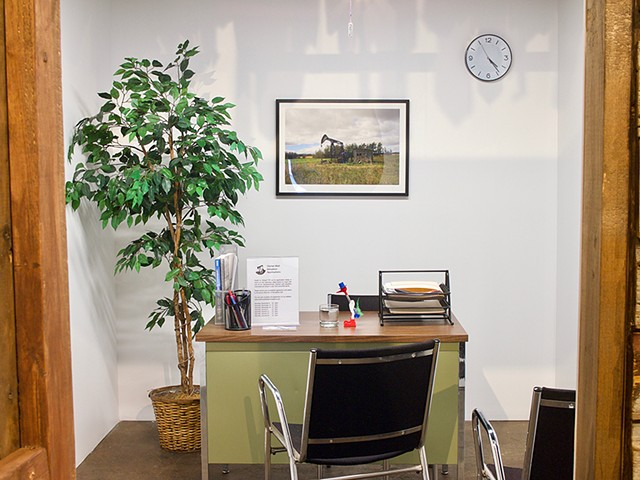 Orphan Well Adoption Agency office interior Installation View, Latitude 53