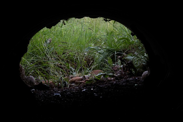 Culvert Views up at Santa Fe Art Institute