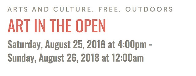 Art in the Open, August 25, 2018