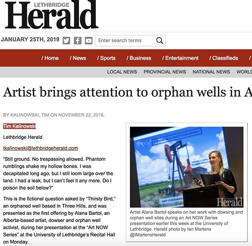 Artist brings attention to orphan wells in Alberta