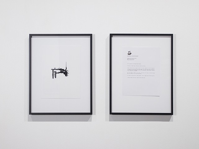 Orphan Well Portrait and Letter to Caretaker, Installation View, Latitude 53