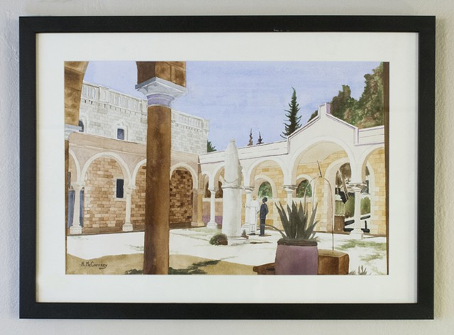 Atrium of St. Stephen's Priory, Jerusalem