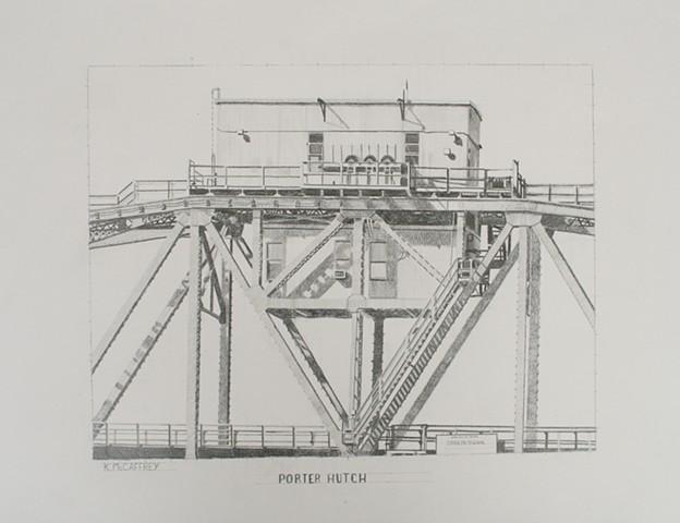 Part of a train bridge over the Hackensack River