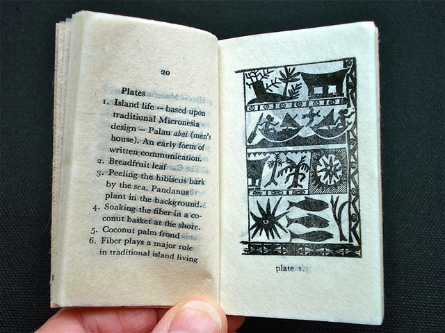 Papermaking In Micronesia Miniature Book, Japan (Interior Detail)