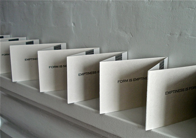 Form Emptiness, Accordion Book, (View 3)