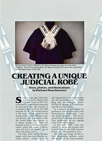 Creating A Unique Judicial Robe