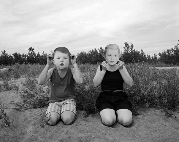 Black and white portraiture