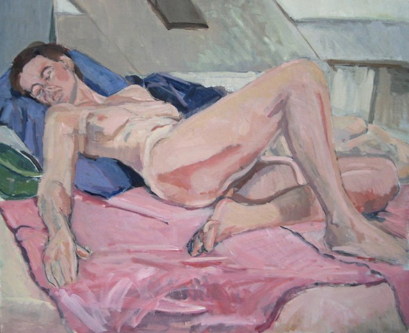 Reclining Figure on Pink Blanket