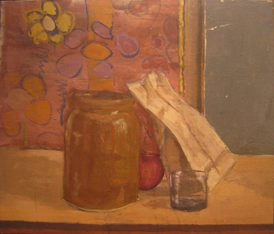 Brown Jar and Paper Bag