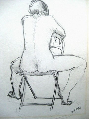 Back of Nude Seated