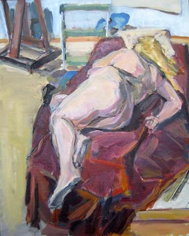 Back of Sleeping Figure
