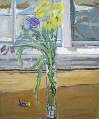 Vase of Flowers Near Window