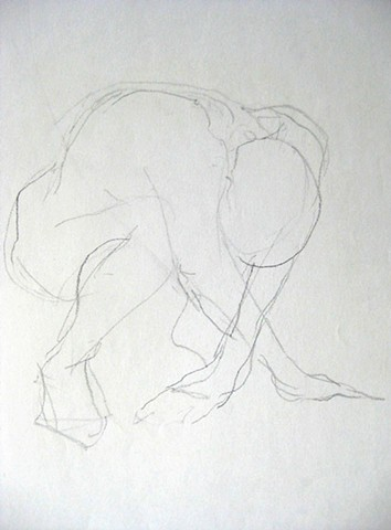Quick Sketch: Figure Squatting
