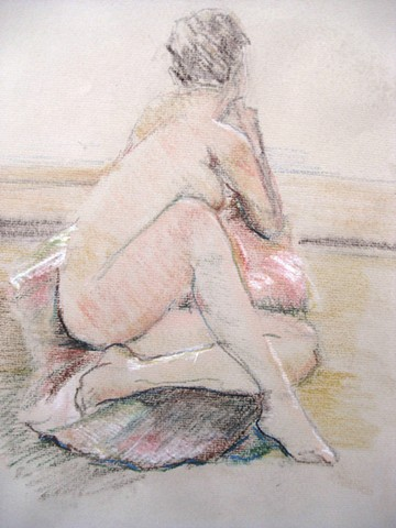 Twisted Seated Nude
