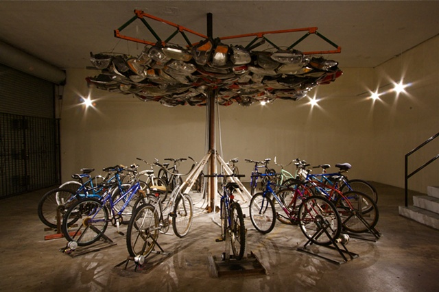 """It Takes Community"" Interactive Kinetic Bike Sculpture by Ryan Farrell"