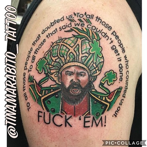 Traditional Philadelphia Eagles Mummers Jason Kelce Tattoo