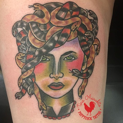 Traditional Medusa Tattoo