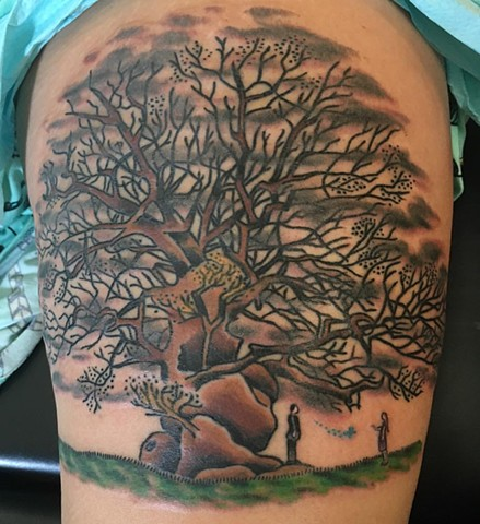 Traditional Harry Potter Tree Tattoo
