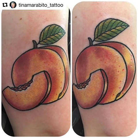 Traditional Peach Tattoo