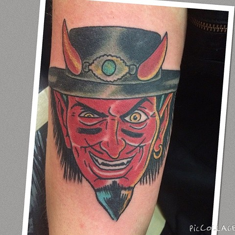 Nikki Sixx/ Stevie Ray Vaughn Coop Devil Tattoo