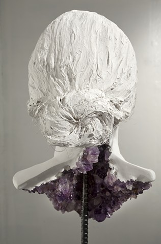sculpture amethysts lauren carter art plaster