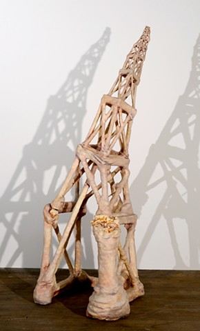 tower sculpture flesh wax lauren carter