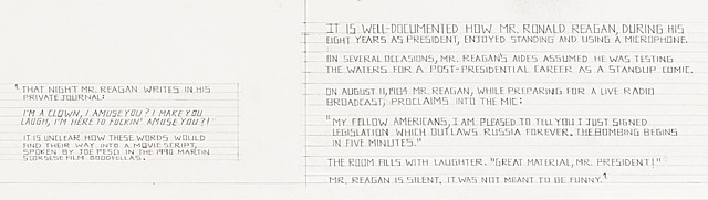 Mr. Ronald Reagan's Private Journal (detail)