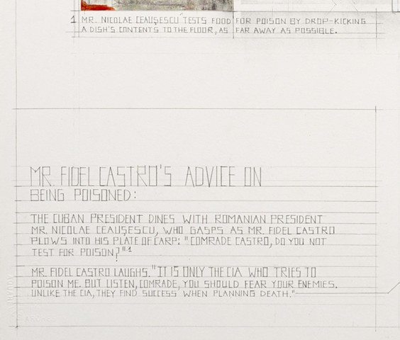 Mr. Fidel Castro's Advice on Being Poisoned (detail)