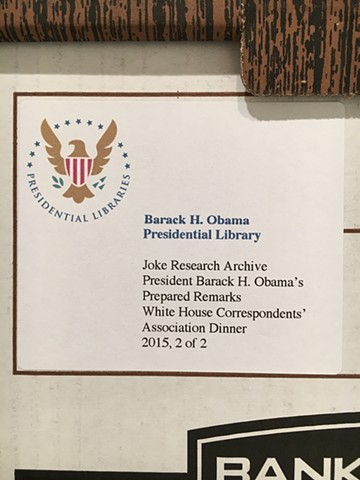 (detail) Joke Research Archive: President Barack H. Obama's Prepared Remarks White House Correspondents' Dinners, 2009-2016
