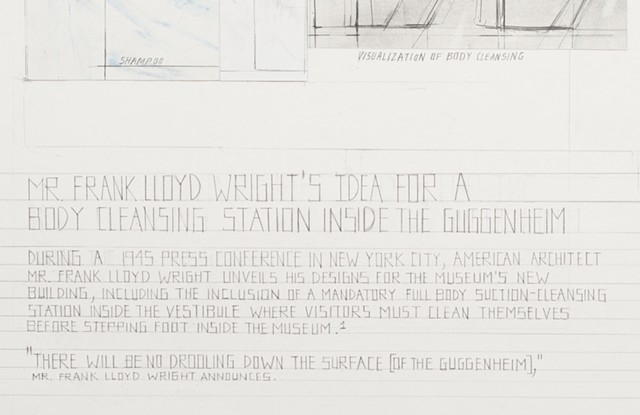 Mr. Frank Lloyd Wright's Idea for a Body Cleansing Station Inside the Guggenheim (detail)