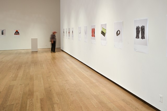 Installation view of Lost and Found at the Gardiner Museum, Toronto Canada