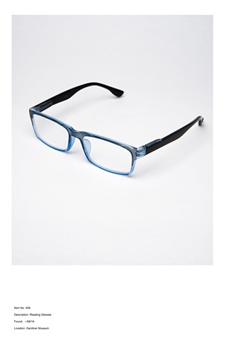 Item no. 009 Description: Reading Glasses Found --/08/16