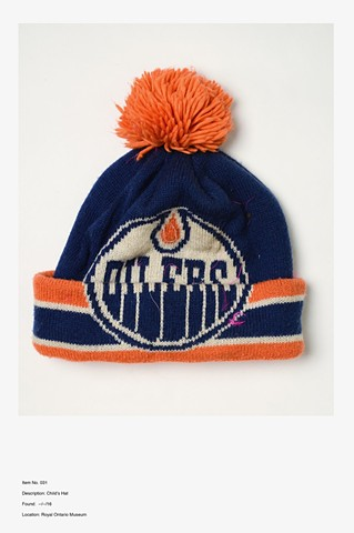 Item No. 031 Description: Child's Hat Found: --/--/16 Location: Royal Ontario Museum