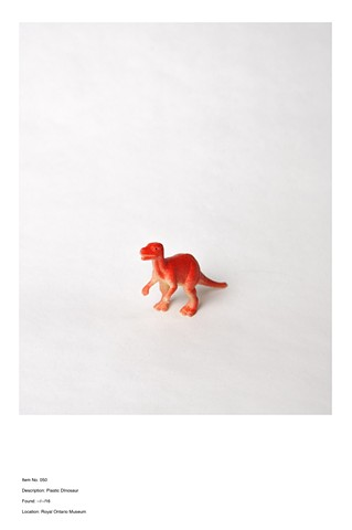 Item No. 050 Description: Plastic Dinosaur Found: --/--/16 Location: Royal Ontario Museum