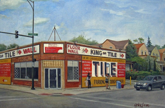 iconic Chicago tile business, now defunct, at the corner of Montrose Ave. & Pulaski