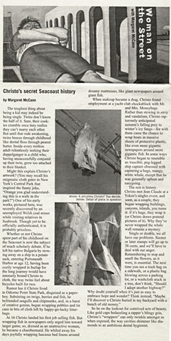 """Christo's Secret Seacoast History"""