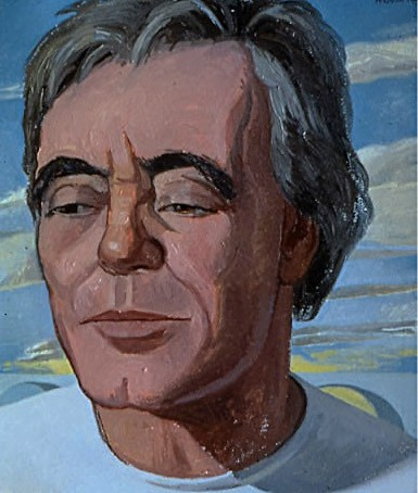 portrait painting of actor Franco Citti by Margaret McCann