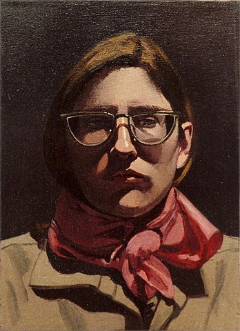 Self Portrait with Pink Scarf