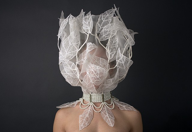 wedding veil, feminist art, lazzarine, sculpture for the body