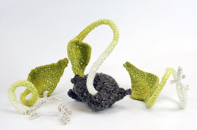 3-d crochet, crochet sculpture
