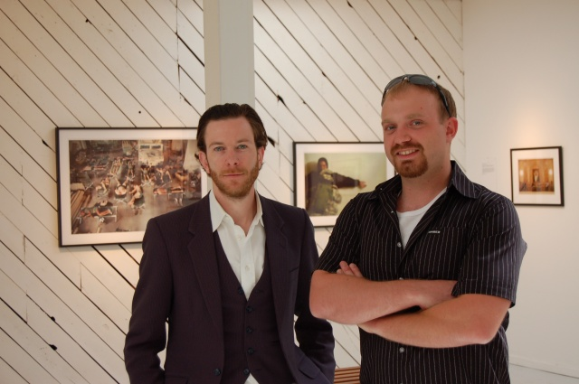 Curator Dane Jensen with Photographer Sam Corum