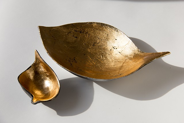 seed pods in gold