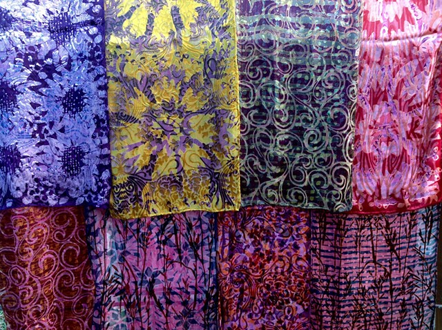 More Patterns of Batik Silk Scarves